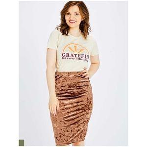NWT Altar'd State Nadine Topaz Velvet Skirt